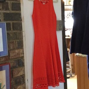 Red Milly sleeveless dress.
